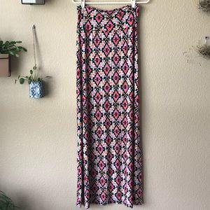 🏝HeartSoul Aztec Maxi Skirt
